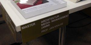 Architektur Mediamanagement AMM Jahresausstellung Architektur