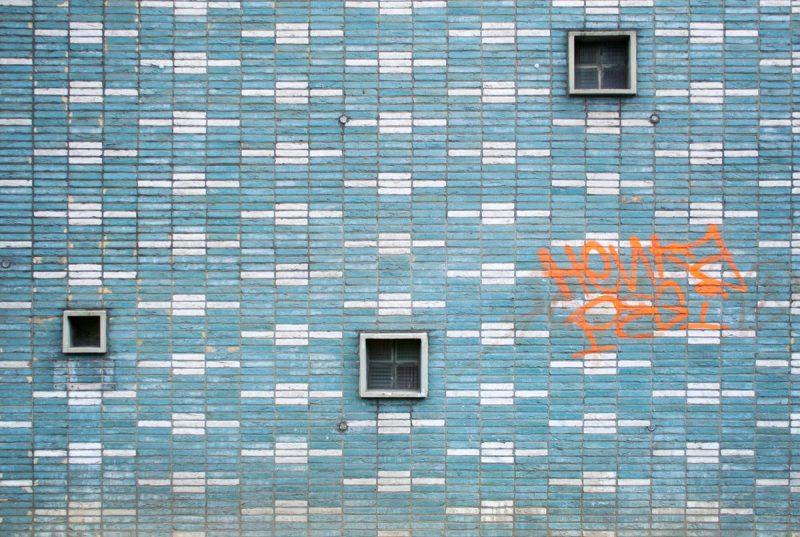 Graffiti Fassade vom Gesundheitsamt in Dortmund