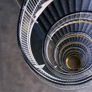 Gesundheitsamt Dortmund schneckenförmige Treppe