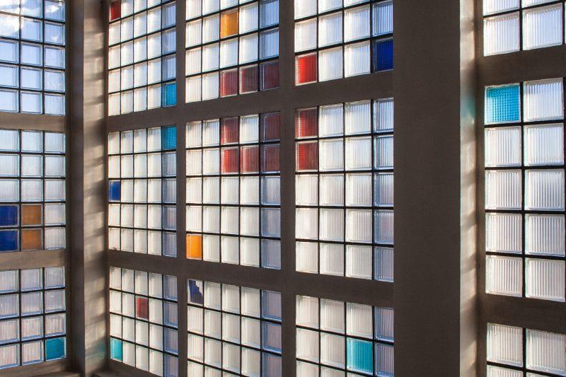 Glasbausteine im Gesundheitsamt in Dortmund