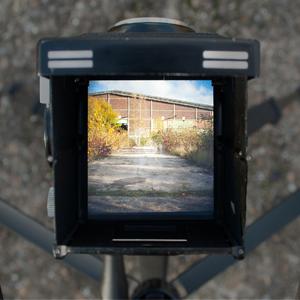 Güterbahnhof in Dortmund mit Mittelformatkamera fotografiert
