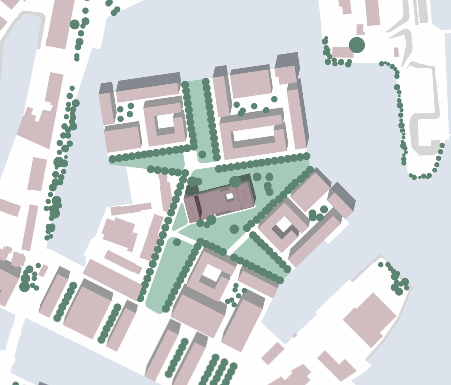 Lageplan vom Plateau der Kommunikation vom Buelau Wettbewerb in Hamburg Harburg
