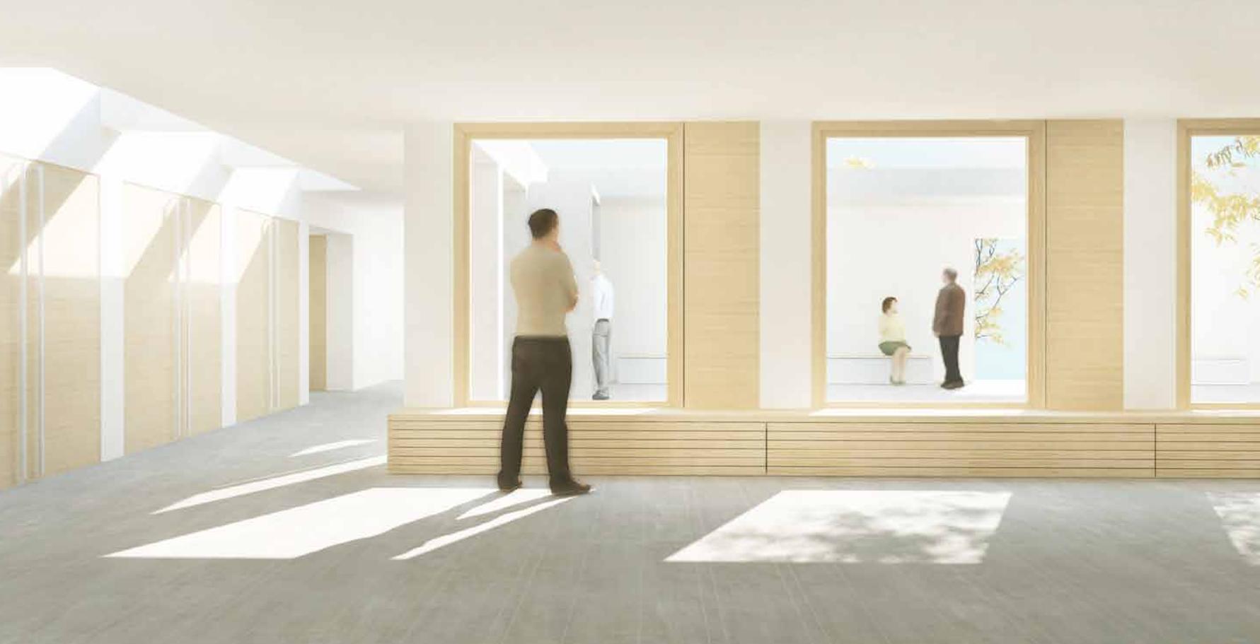 Perspektive des Foyers der Kreuzkirchengemeinde in Celle Wettbewerb Gutachterverfahren