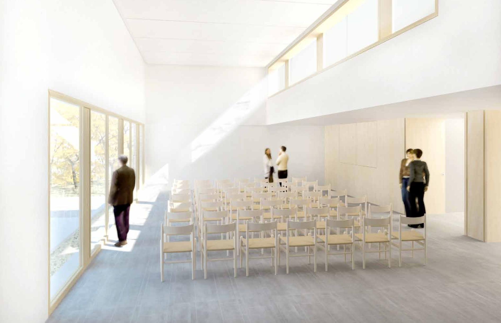 Perspektive des Gemeindesaals der Kreuzkirchengemeinde in Celle Wettbewerb Gutachterverfahren