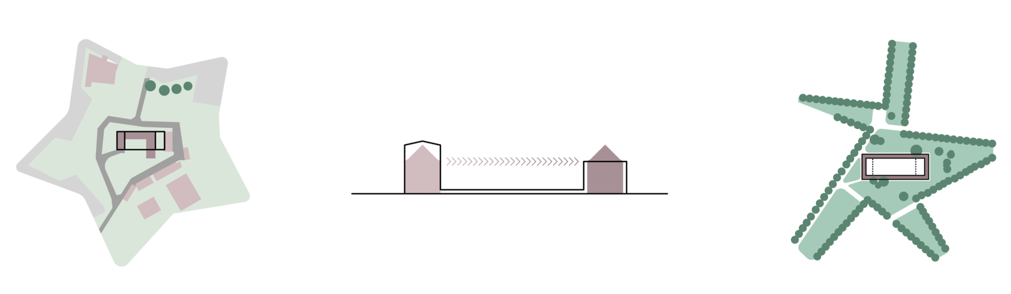 Piktogramme vom Plateau der Kommunikation vom Buelau Wettbewerb in Hamburg Harburg