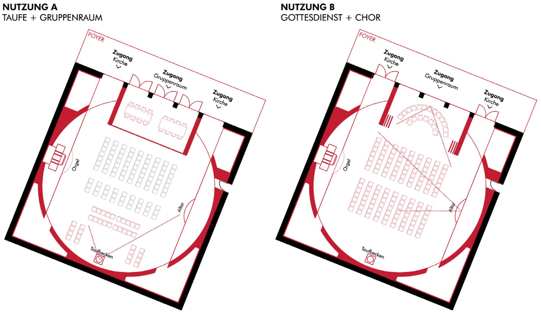 Piktogramm der Kreuzkirchengemeinde in Celle Wettbewerb Gutachterverfahren
