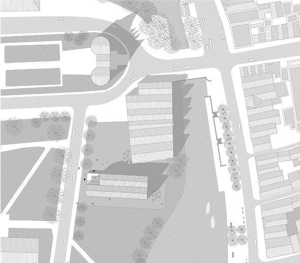 Lageplan zum Schriftstellerkolleg in Lübeck