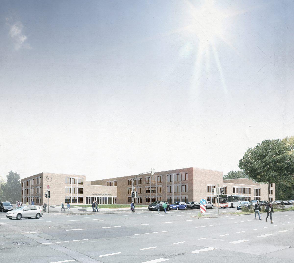 Stadtgymnasium in Dortmund am Heiligen Weg von Saskja Jagenteufel