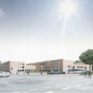 Stadtgymnasium in Dortmund als Master-Arbeit an der Straße Heiliger Weg