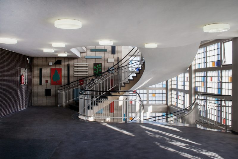 Zwischenebene Treppenhaus im Gesundheitsamt in Dortmund